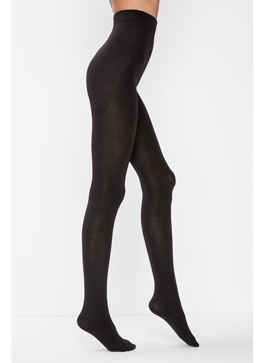 Penti Wet Look Külotlu Çorap Siyah